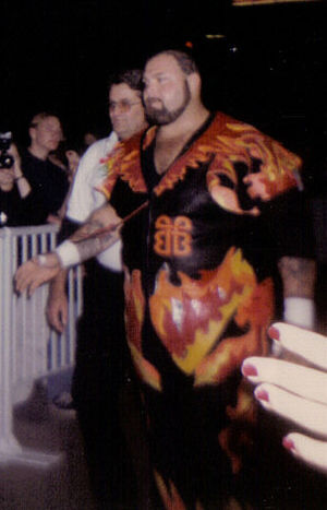 Royal Rumble (1995) - Bam Bam Bigelow attacked football star Lawrence Taylor after losing his match.