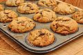 Banana nut muffins with raisins and chocolate (6150882978).jpg
