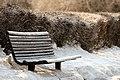 Banc dans la neige - Public Snow Bench (2364671148).jpg
