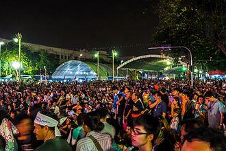2013–2014 Thai political crisis - Protests at the Democracy Memorial