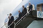 Barack Obama arrives at Kennedy Space Center - 201004150002HQ.jpg