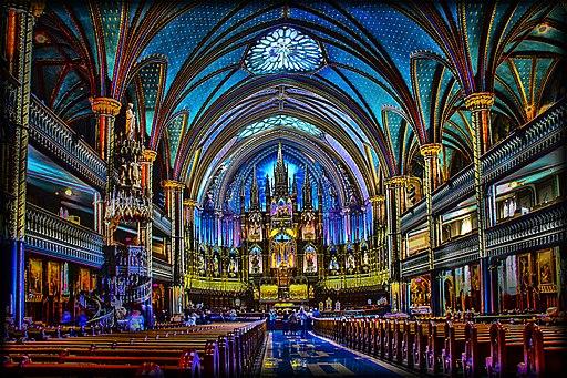 Basilique Notre-Dame de Montréal - Notre-Dame of Montreal Basilica. ( Montreal- Quebec-Canada)
