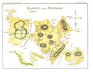 Bacan Islands - German map from 1896