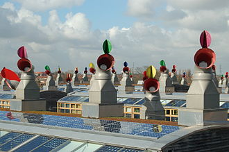 Hackbridge - Image: Bed ZED roofs 2007