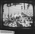 Begrafenis Churchill vanaf televisie, de kist, Bestanddeelnr 917-3888.jpg