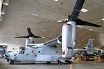 Bell-Boeing CV-22B in the restoration hangar at the National Museum of the U.S. Air Force.JPG