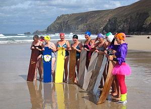 Bellyboarding - Bellyboarders in UK Cornwall