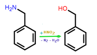 Benzyl alcohol synthesis from benzylamine.png