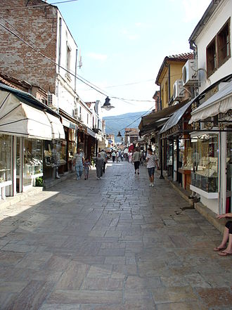 Old Bazaar, Skopje - Typical street in the Old Bazaar