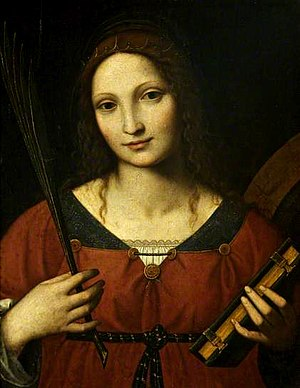 National Art Museum of Azerbaijan - Image: Bernardino Luini Saint Catherine