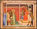 Bernardo daddi, santa reparata davanti a decio, 1340 ca. (met).jpg