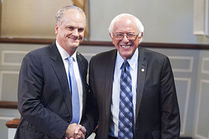 Douglas A. Blackmon - Blackmon with Bernie Sanders in 2015