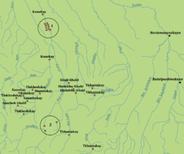 Besleneys villages in 1830-1850 years.png