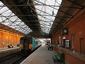 Beverley railway station - Image: Beverley station int