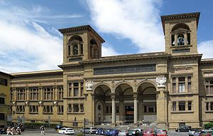 National Central Library (Florence) - The Library from Piazza dei Cavalleggeri