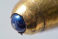 ballpoint pen magnified