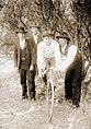 Bicycle circa 1896 with boy and three men.jpg