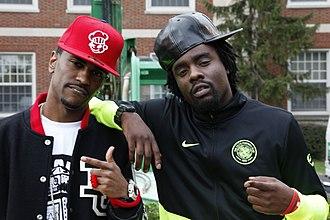 Wale (rapper) - Wale and fellow rapper Big Sean in 2009