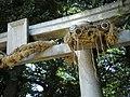 Big Snake (大蛇) on the Torii (鳥居) at Okusawa Shrine (奥澤神社) - panoramio.jpg