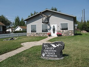 Creation science - Big Valley Creation Science Museum in Big Valley, Alberta, Canada