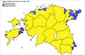 Demographics of Estonia - Biggest religion in Estonia