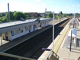 Biggleswade Station looking North.JPG