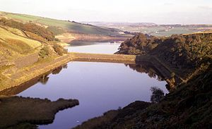 Holmfirth floods - Bilberry and Digley reservoirs