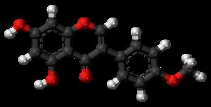 Biochanin A - Image: Biochanin A 3D balls
