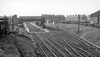 Birkenhead North railway station - Birkenhead North Station in 1961