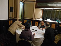 Black Lunch Table at Wikimania 2018 (02).jpg