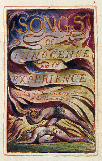Artist's book - Blake's hand painted frontispiece for Songs of Innocence and of Experience.  This version of the frontispiece is from Copy Z currently held by the Library of Congress.