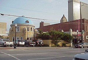 Downtown Tulsa - The Blue Dome, a former Gulf Oil Service Station, built in 1924.