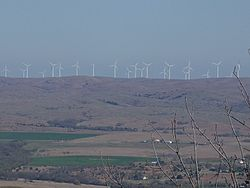 Wind turbines in Southwest Oklahoma