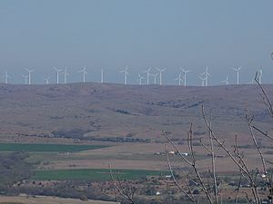 Blue Canyon Wind Farm - Blue Canyon Wind Farm from Mount Scott