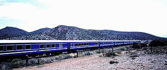 Blue Train (South Africa) - Blue Train passes though the Karoo