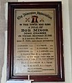 Bob Minor peal plaque in SS Peter and Paul's Church, Chatteris, Cambridgeshire.jpg