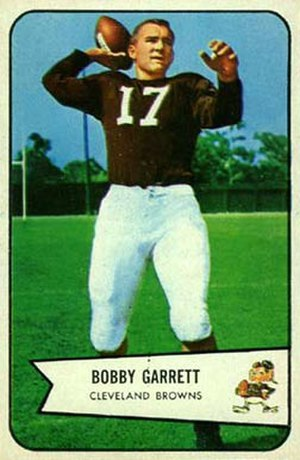 Bobby Garrett - Garrett on a 1954 Bowman football card