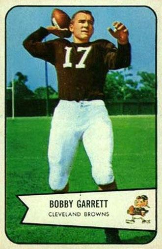 Bobby Garrett - Garrett on a 1954 Bowman football card