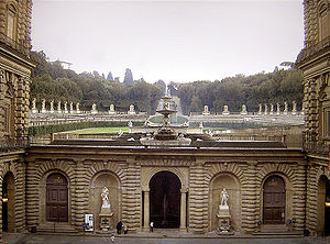 Boboli Gardens - Boboli Gardens Amphitheatre, viewed from the Palazzo Pitti
