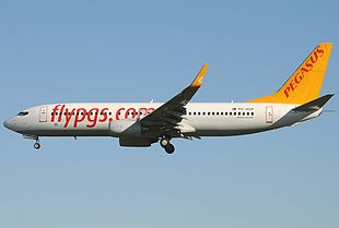 In Boeing 737-82R fan Pegasus Airlines