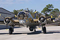 Boeing B-17G-85-DL Flying Fortress Nine-O-Nine Landing Taxi Closeup Nose CFatKAM 09Feb2011 (14983918895).jpg