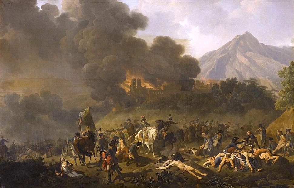 Bonaparte re%C3%A7oit les prisonniers sur le champ de bataille, 1797
