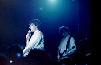 U2 - Bono and the Edge performing on the Boy Tour in May 1981