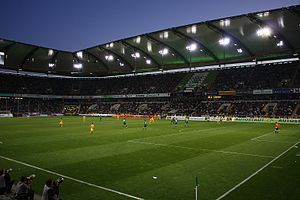 VfL Wolfsburg - Wolfsburg against Borussia Dortmund at the Volkswagen Arena in May 2009.