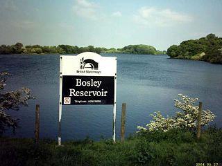 Bosley Reservoir lake in the United Kingdom