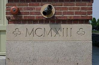 Hibernian Hall (Boston, Massachusetts) - Image: Boston Hibernian Hall cornerstone