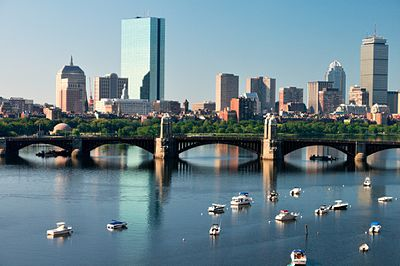 Boston, the most populated city in Massachusetts and New England and the fourth most populated city in the Northeast Boston Skyline Over the Charles River.jpg