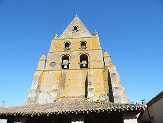 Bouillac, Tarn-et-Garonne - The bell tower of the church, in Bouillac