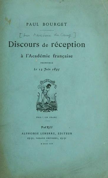 File:Bourget - Discours de réception à l'Académie française, 1895.djvu