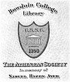 Bowdoin College Athanean Society bookplate.jpg